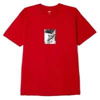 OBEY STREET SCENE CLASSIC T-SHIRT RED