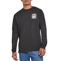 OBEY EYES ICON 2 L/S TEE OFF BLACK
