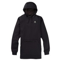 BURTON OAK LONG PO W HOODIE TRUE BLACK HEATHER
