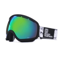 HORSEFEATHERS x MELON CHIEF GOGGLES BLACK BIRCH/GREEN CHROME