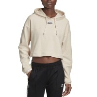 ADIDAS CROPPED HOODIE LINEN